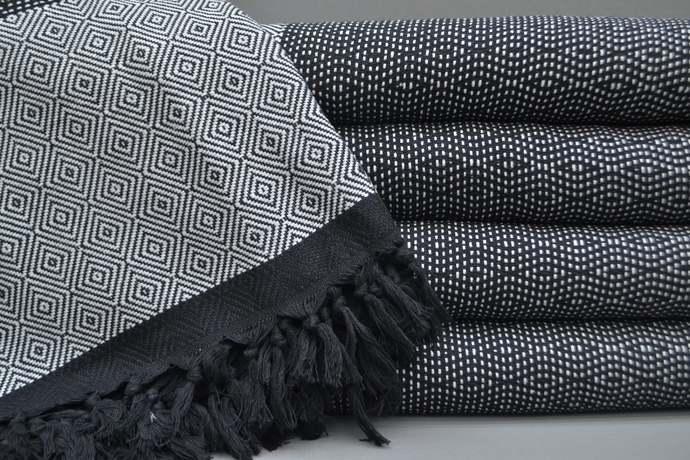 Turkish Towel, Throw, Turkish Blanket, Light Gray Blanket, Bath Towel, Sauna