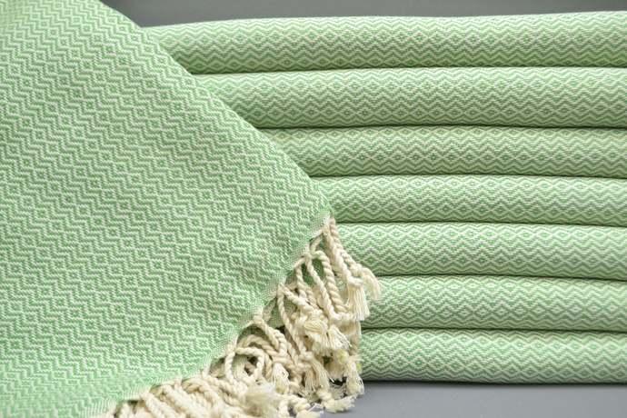 Turkish Towel, Bath Towel, Sauna Towel, Spa Towel, Turkish Peshtemal, Green