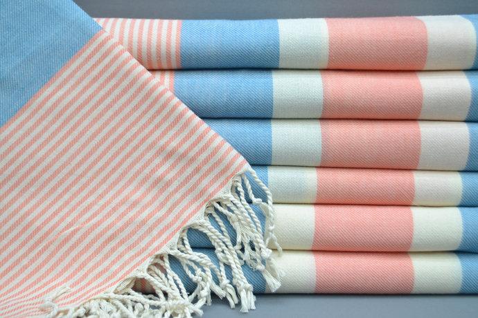 Turkish Towel, Peshtemal Towel, Bridesmaid Gift, Spa Towel, Blue Striped Towel,