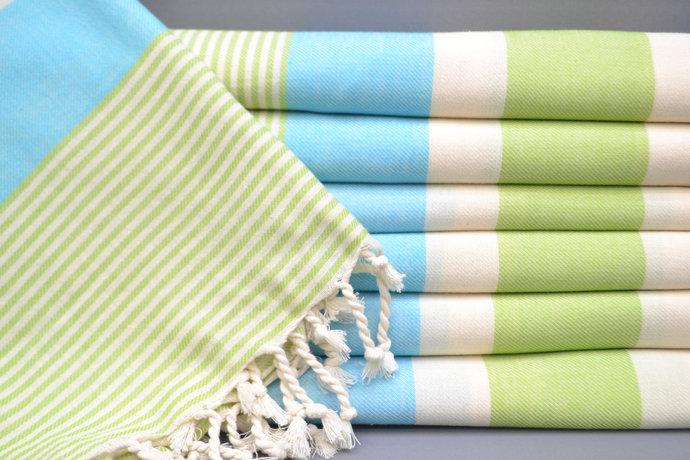 Turkish Towel, Bridesmaid Gift, Beach Towel, Pistachio Green Striped Towel, Bath