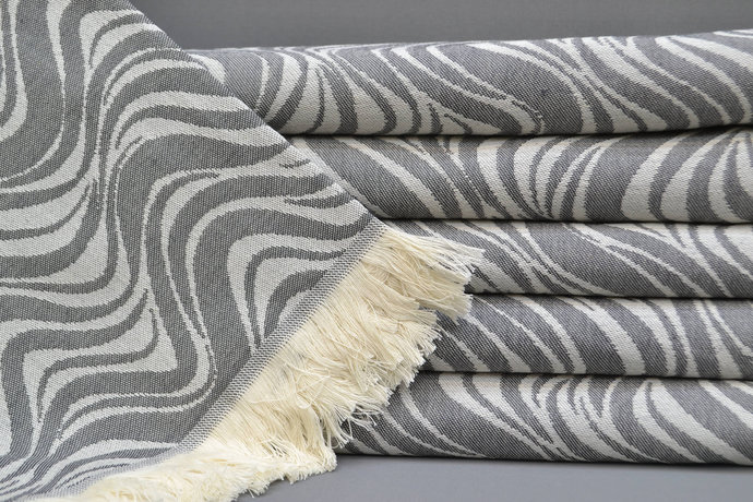 Turkish Towel, Spa Towel, Bridesmaid Gift, Bath Towel, Sauna Towel, Towel, Gray