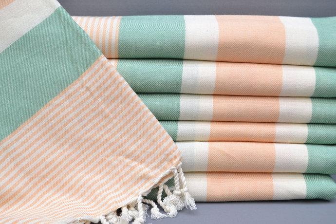 Turkish Towel, Spa Towel, Bridesmaid Gift, Beach Towel, Green Striped Towel,