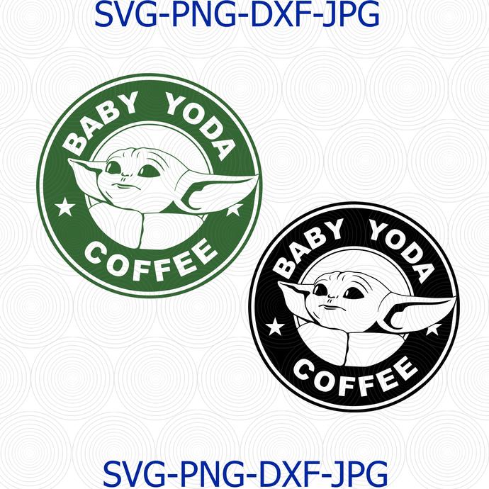 Baby Yoda Coffee Svg Png Baby Yoda By Digital4u On Zibbet