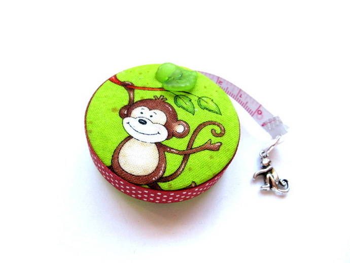 Tape Measure Coconts and  Monkeys Small Retractable Measuring Tape