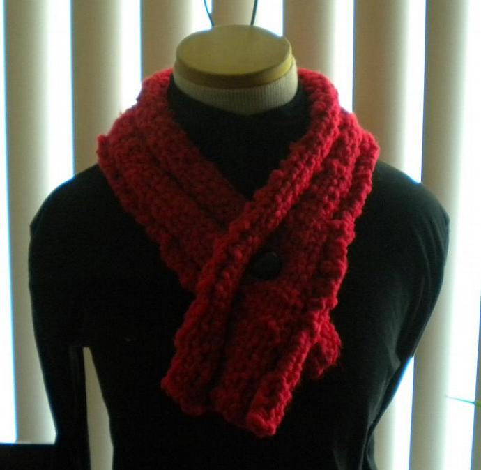 Bright Red Chunky Neckwrap