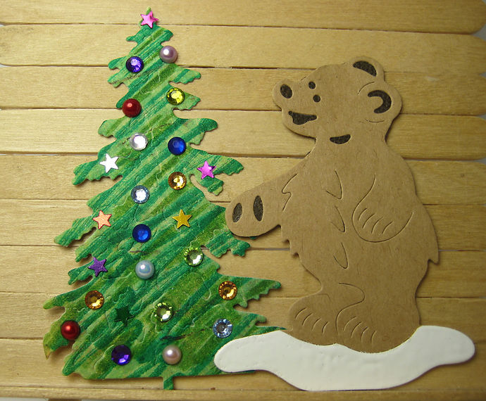 Little Bear with Fish Metal Cutting Die