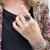 Purple stone ring