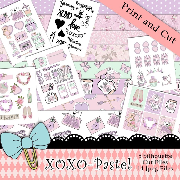 """XOXO-Pastel"" Printable Download"