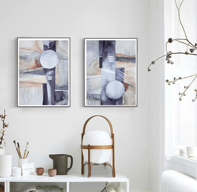 Set of 2 Prints, Set of 2 Scandinavian, Scandinavian Print, Print Set,