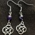Silver Celtic Knot with amethyst round