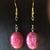 Pink rhodochrosite dangle earrings