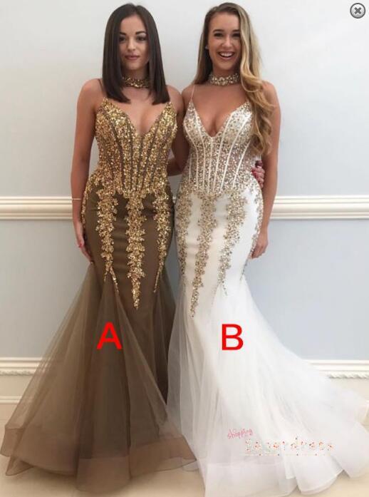 Gorgeous Mermaid Beaded Teal Evening Dress 8002142