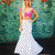 Two Piece Off the Shoulder Polka Dot Prom Dress 8002117