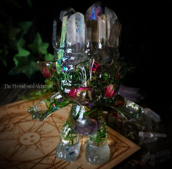 XXL Moonstoned Crystal Troll