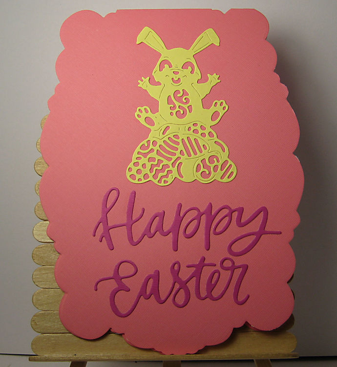 2pc Bunny Rabbit and Happy Easter Word Cutting Dies