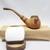 Wood Tobacco Pipe and Mini Tin Set Artisan Flying Dragon Designed Set in Gift