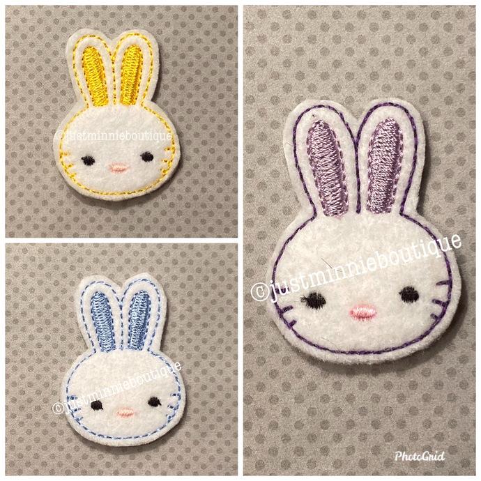 BUNNY Rabbit FELTIE 4 pc UNCUT