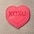 XOXO HEART Feltie UNCUT
