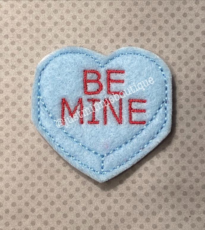 BE MINE Heart Feltie UNCUT