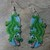 Alligator Earrings Hand Made Seed Beaded Bead Work