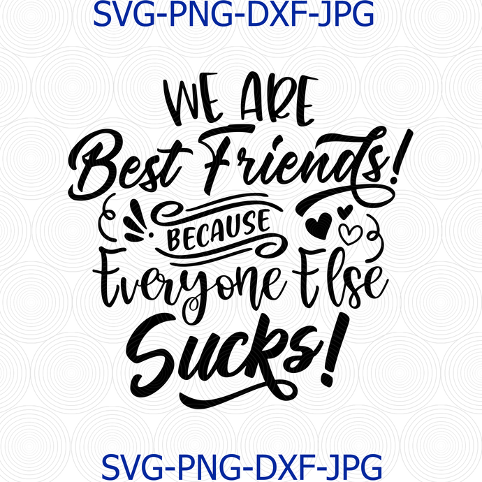 We Are Best Friends Because Everyone Else Sucks! Svg Png Cut File, Funny Svg,