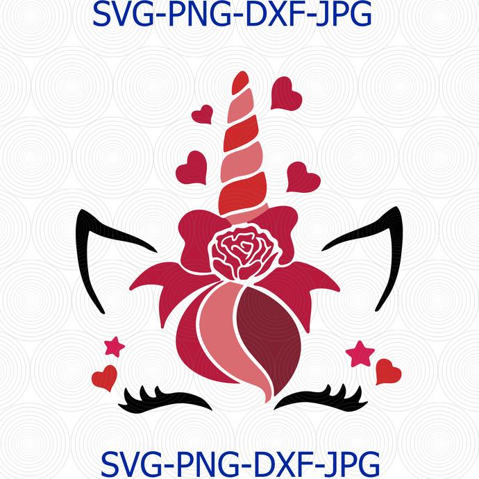 Valentine's Unicorn svg, Valentine's day svg, Unicorn svg, love svg, unicorn