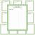 Printable Recipe Binder Kit_Green & White Houndstooth Pattern
