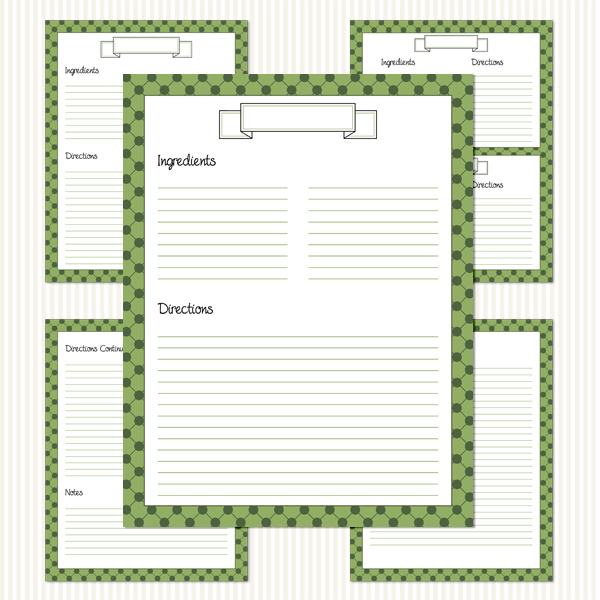 Printable Recipe Binder Kit_Olives