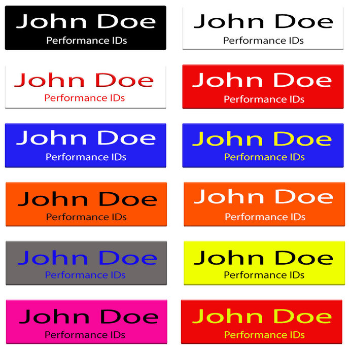"1"" x 3"" Magnetic Name Badge-Personalized Name Badges-Customized Name Badge-Laser"