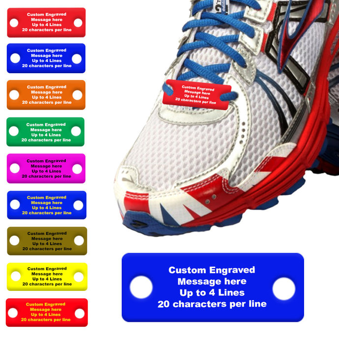 Personalized Running Shoe Tags - Custom Shoe Tag - gift for runner - inspiration