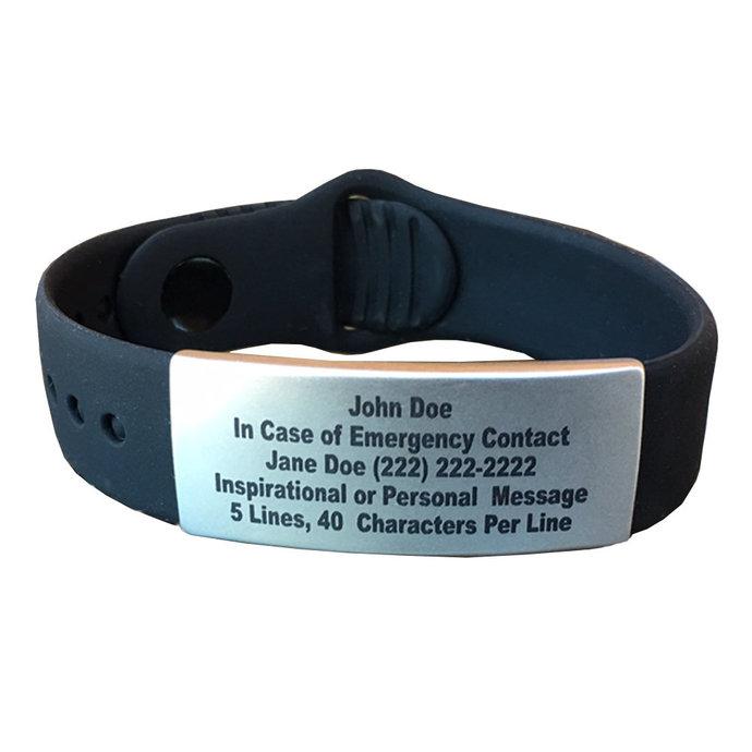 Emergency Alert ID Bracelets - ID Bracelet Mens, ID Bracelet Womens, Id Bracelet