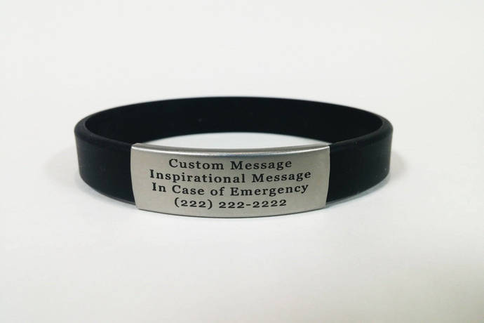 ID Bracelets Men, Women, Children, Elderly - Free Engraving- Alert ID- Health ID