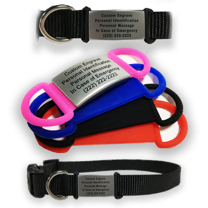 Customized Pet ID Tags for Dogs - choose your favorite color!