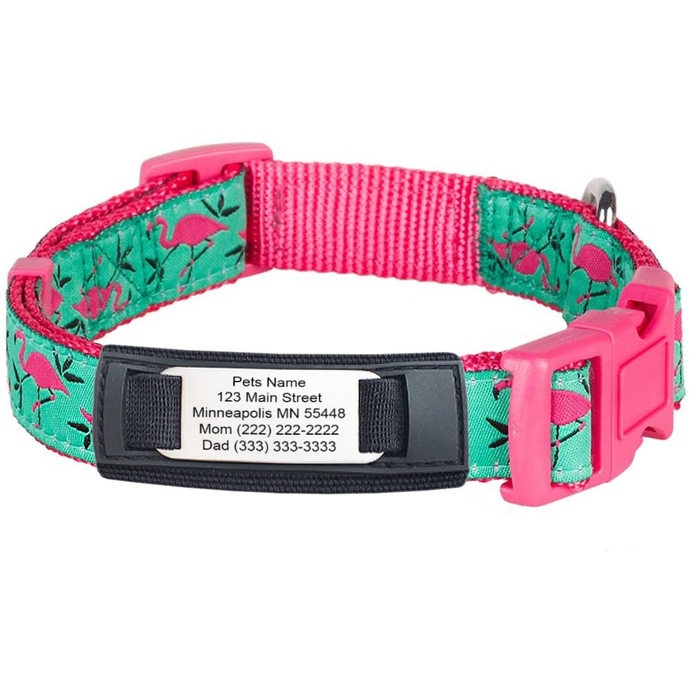 Unique and Silient Animal ID For Pet Collars - Medical ID for Pets - Lost Pet ID
