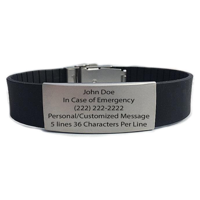 Performance IDs Rugged Wrist id Bracelet - Identification Bracelet, ID Wristband