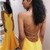 Elegant Yellow Mermaid Prom Dresses 2019 New Sexy Backless Long Formal Dress