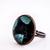 'Black Green' Copper Medium Ring