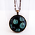 'Black Green' Copper, Round Pendant