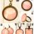 'Full Pink' Bronze, Medium, Lacy Pendant