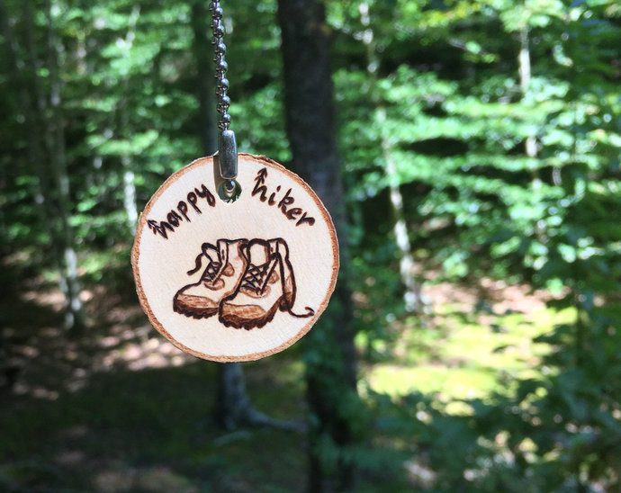 Happy Hiker Keychain,Hiker Lover Gift,Nature Keychain,Gifts for hiking