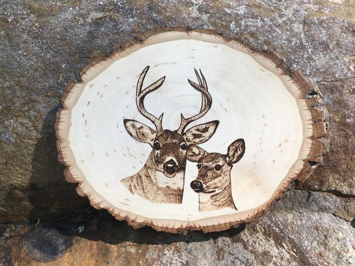 Anniversary Gifts for Hunter,Hunter Wood Sign,Woodland Deer Sign,Rustic Deer
