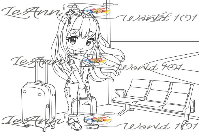 Traveling Tricia - Digital Stamp