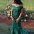 Off The Shoulder Green Mermaid Prom Dress