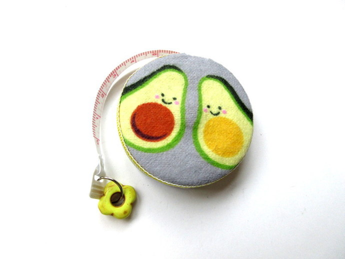 Tape Measure Smiling Avocados Small Retractable Measuring Tape