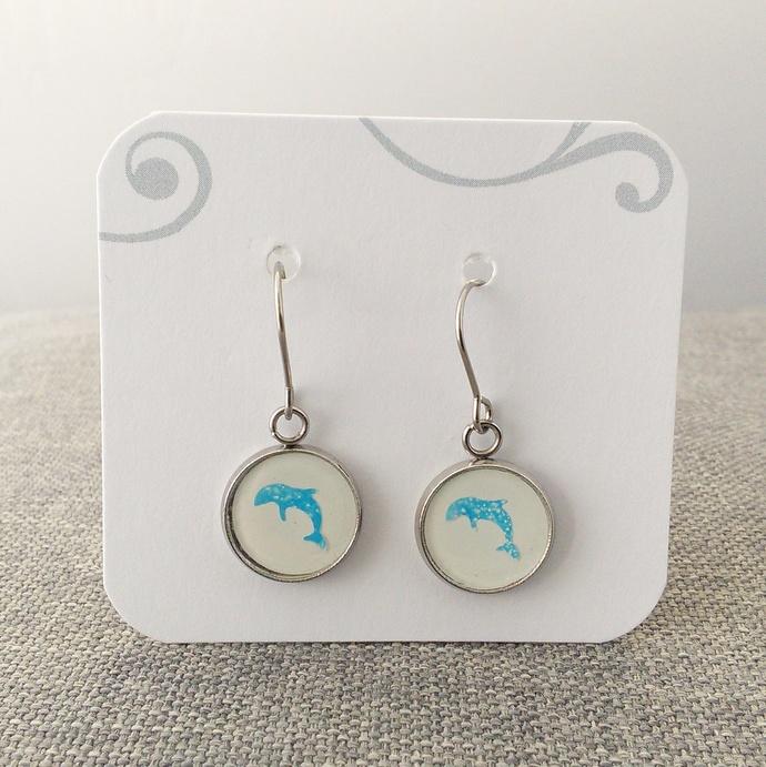 Little Blue Dolphin Earrings