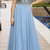 Dignified Spaghetti Straps V-neck Light Blue Prom Dress with Appliques,