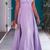 Classical Off Shoulder Lavender Sweep Train Prom Dress
