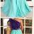 A-line evening dress one shoulder sleeve velvet Prom Dress