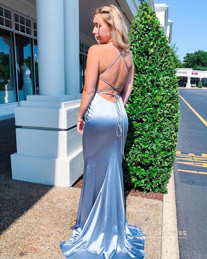 Simple Criss Back Mermaid Prom Dress 8002145