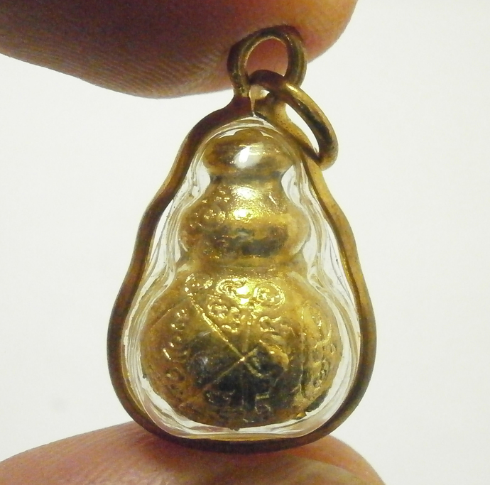 Magic Gourd Calabash Chinese metal amulet blessed for gamble rich lucky charm